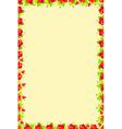 Floral frame flower vector