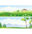 Summer landscape banners vector
