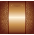 Brown with gold damask pattern royal invitation vector