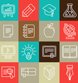 Line icons and signs - education vector