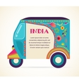 India - background with patterned rickshaw vector