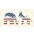 Democratic and republican political symbols vector