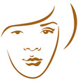 Woman head contour vector