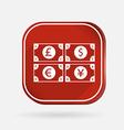 Money bill color square icon vector