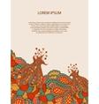 Abstract decorative vintage vivid template design vector