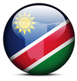 Map on flag button of republic namibia vector