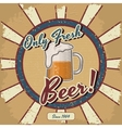 Retro beer poster vintage poster template vector