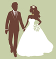Beautiful wedding couple vector