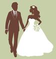 Beautiful wedding couple vector