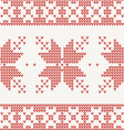 Seamless knitted pattern with christmas ornament vector