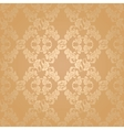Seamless background flowers floral gold vector