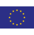 Original and simple europe flag eu isolated in vector