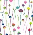Hallucinogenic mushrooms seamless pattern vector