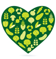 Healthy food heart vector