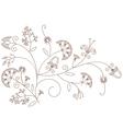 Floral pattern plant ornament vector