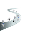 Road and people in business vector