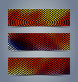 Abstract halftone banner set vector