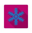 Element for flat design snowflake vector