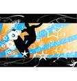 Surfer background vector