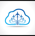 Tour and tourism icon with cloud vector
