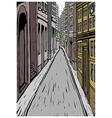 City street alley scene vector