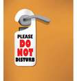 Do not disturb sign vector