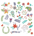 Amazing floral set vector