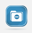 Folder for documents color square icon vector