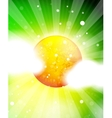 Nature sky shiny background with sun vector