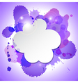 Abstract speech bubble cloud with blots and lights vector
