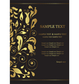 Invitation card with golden floral element vector