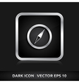 Compass direction icon silver metal vector