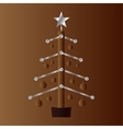 Stylized christmas tree in a technical style vector