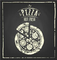 Pizza chalkboard vector
