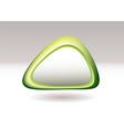 Triangle pebble green vector
