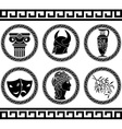 Hellenic buttons stencil fifth variant vector