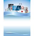 Medicine vertical background vector