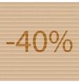 40 percent discount icon symbol flat modern web vector