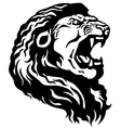 Head of lion black white vector