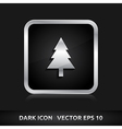 Tree icon silver metal vector