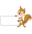 Squirrel with sign vector