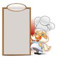 Chef menu vector