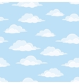 Sky with clouds seamless vector