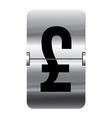 Alphabet silver flipboard letters pound vector