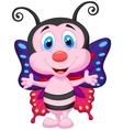 Cute butterfly cartoon vector