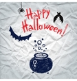 Happy halloween greeting card with a boiling vector