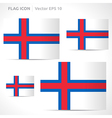 Faroe islands flag template vector