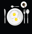 Egg and cup of coffee vector