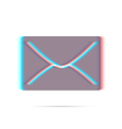E-mail anagliph icon with shadow vector