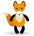 Cute cartoon fox on white background vector